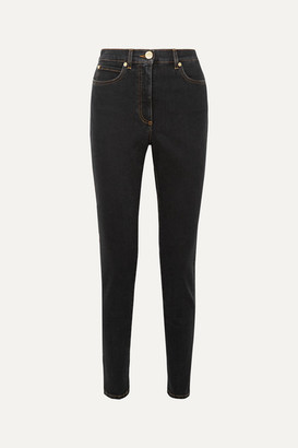 Versace High-rise Skinny Jeans - Black