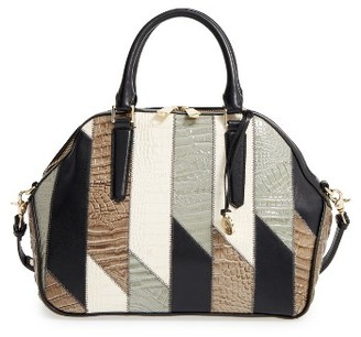 Brahmin Hudson Patchwork Leather Satchel $395 thestylecure.com
