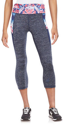 Nanette Lepore Contrast Cropped Athletic Leggings $68 thestylecure.com