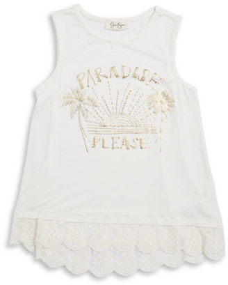 Jessica Simpson Girls 7-16 Girls Paradise Please Graphic Top $34.50 thestylecure.com