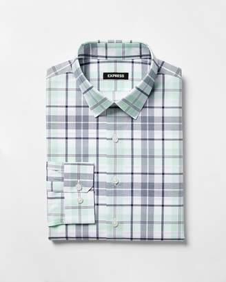 Express Extra Slim Multicolor Plaid Dress Shirt