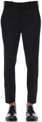 Neil Barrett Pinstriped Flannel Virgin Wool Pants