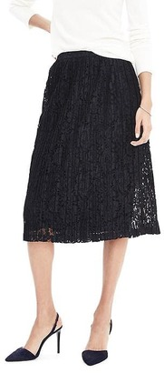 Midi Lace Skirt $118 thestylecure.com
