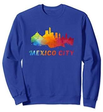 Mexico City Skyline Watercolor Style Sweatshirt