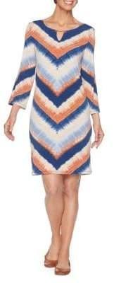 Ruby Rd Desert Drifter Chevron-Print Knit Dress