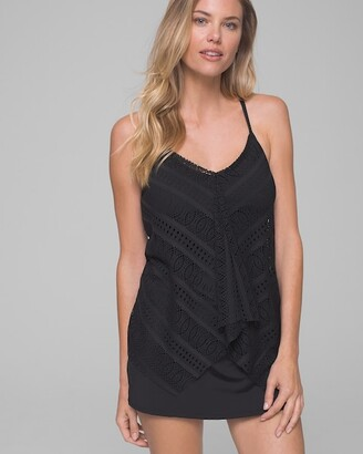 Beach House Lace Up and Go Kerry Tankini Swim Top