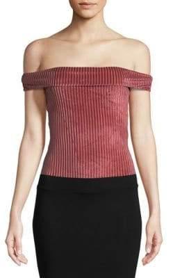 MinkPink Off-The-Shoulder Bodysuit