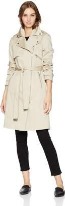 Soia & Kyo SoiaKyo Women's Athena Stretch Cotton Trench Coat with tie Closure, M