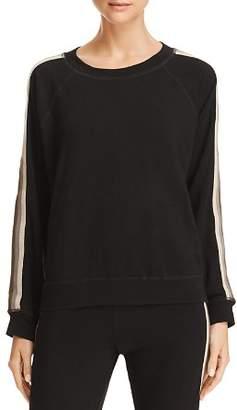 Monrow Raglan Stripe Sleeve Sweatshirt