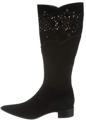 Baldinini Pointed-Toe Suede Boots