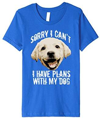 Sorry I Can't. I Have Plans With My Dog Novelty T-Shirt