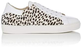 Barneys New York WOMEN'S CHEETAH-PRINT FAUX-FUR & LEATHER SNEAKERS
