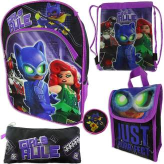 Lego Kohl's Girls 4-16 Batman 5-pc. Backpack, Lunch Box & Accessories Set