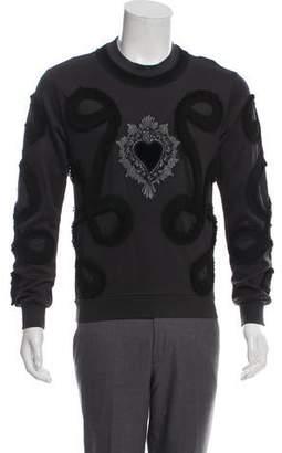Dolce & Gabbana Sacred Heart Appliqué Sweater