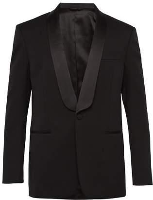 Calvin Klein Silk Lapel Single Breasted Wool Tuxedo Jacket - Mens - Black Yellow