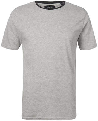 Troy Men's Elias Ringer T-Shirt - Light Grey Marl