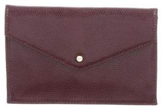 Diane von Furstenberg Embossed Leather Envelope w/ Tags