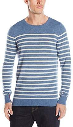 Tommy Hilfiger Tommy Jeans Men's Lambs Wool Nylon Crew Neck Stripe Sweater