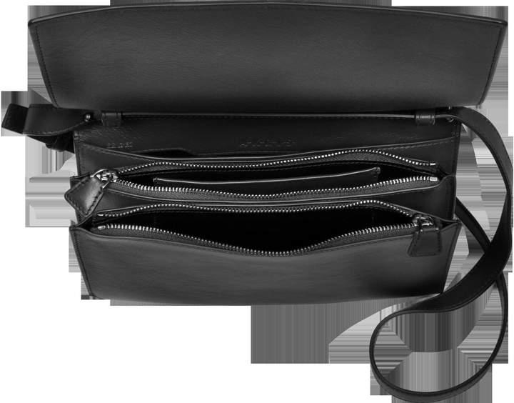 Akris XXS Alice Black Leather Shoulder Bag