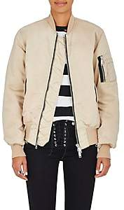 Taverniti So Ben Unravel Project BEN UNRAVEL PROJECT WOMEN'S DISTRESSED INSULATED BOMBER JACKET