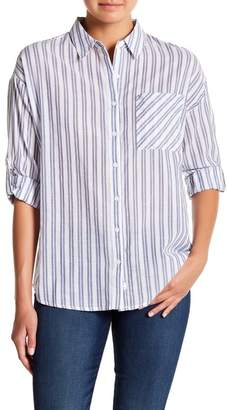 Naked Zebra Striped Button Down Shirt