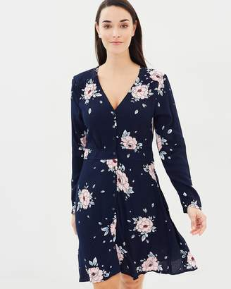 Cotton On Woven Bella Long Sleeve Tea Dress