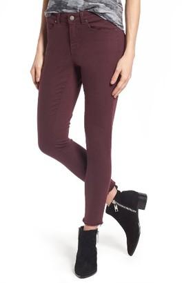 Women's Caslon Frayed Hem Skinny Ankle Jeans $79 thestylecure.com