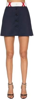 Miu Miu Techno Jersey Mini Skirt