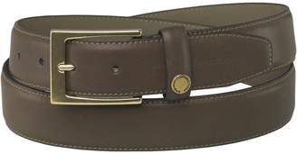 French Connection Mens Circular Button Jeans Belt Dark Brown