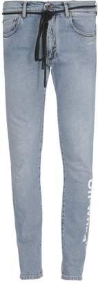 Off-White Skinny Regular Length Jeans