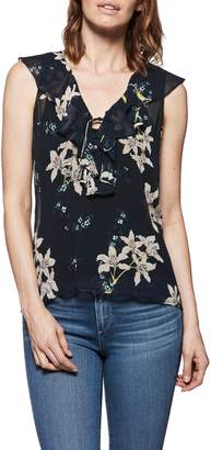 Paige Danae Floral Ruffle Top