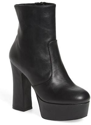 Women's Jeffrey Campbell De-Facto Block Heel Platform Bootie $139.95 thestylecure.com
