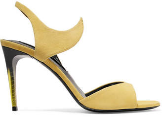 Matteo Mars - Graffio Suede Sandals - Yellow