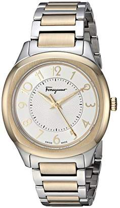 Salvatore Ferragamo Women's TIME' Swiss Quartz Stainless Steel and Gold Plated Casual Watch(Model: F42030017)