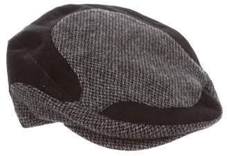 705ef791711 Dolce   Gabbana Wool Chevron Knit Newsboy Hat