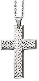 Forza Men's Stainless Steel Grooved Cross Penda