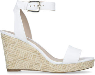 e6ae3a24e7 Kurt Geiger White Wedge Sandal. White Sandals For Women - ShopStyle UK