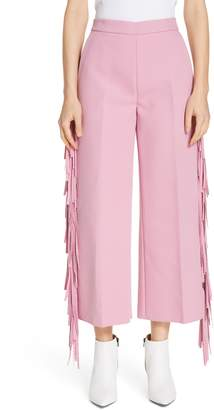 MSGM Fringe Trim Crop Pants