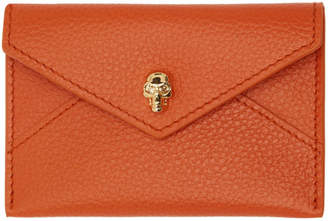 Alexander McQueen Orange Envelope Card Holder