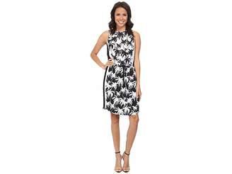 Vince Camuto Sleeveless Palm Harmony Tie Waist Dress Women's Dress
