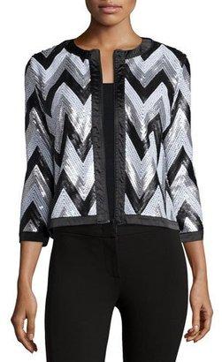 Michael Simon Zigzag-Sequined Jacket $235 thestylecure.com