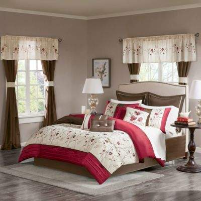 Madison Park Essentials Ashlyn 24-Piece King Comforter Set in Red