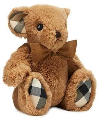 Burberry Plush Baby Teddy Bear w/ Check Trim