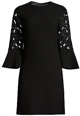 Elie Tahari Women's Esmarella Lace Eyelet Bell-Sleeve Shift Dress - Size 0