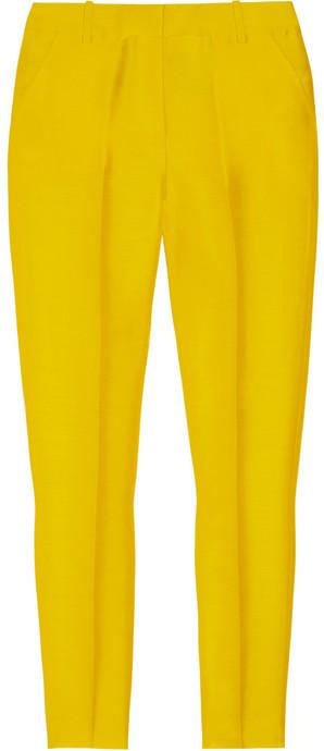 J.Crew Cropped silk-blend organza straight-leg pants