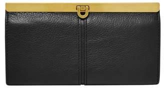 Fossil Kayla Frame Clutch Wallet Black