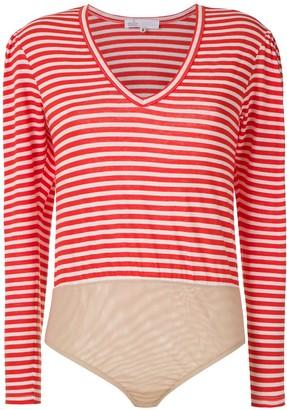 Nk striped bodysuit