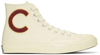 Converse White Wordmark Wool Chuck Taylor All-Star 70 Hi Sneakers