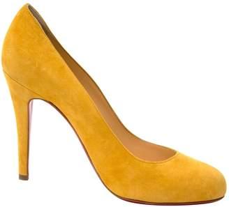 684e66d598a Christian Louboutin Yellow Suede Heels