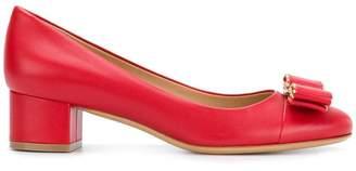 Salvatore Ferragamo Elinda logo bow low-heel pumps